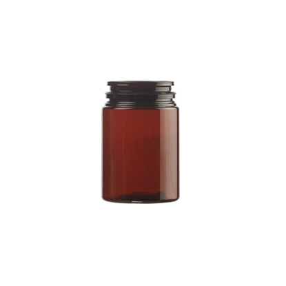Afbeeldingen van Pill Jar PET 75ml amber 40mm
