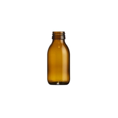 Picture of Syrup bottle 100ml glass amber ROPP28