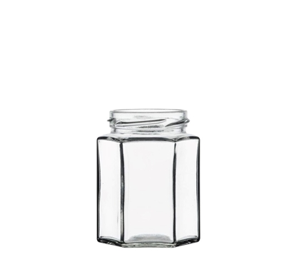 Image de Bocal hexagonal 280ml verre TO63 transparent