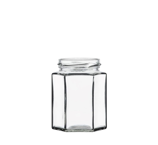 Afbeelding van Bokaal Hexagonaal 280ml glas 6 facetten TO63 clear