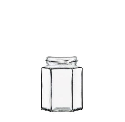 Image de Bocal hexagonal 195ml verre TO58 transparent