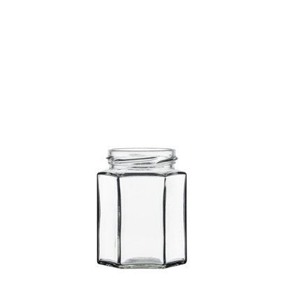 Image de Bocal hexagonal 110ml verre TO48 transparent