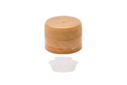 Picture of Screw cap PP 31,5 with anti-drip insert gold