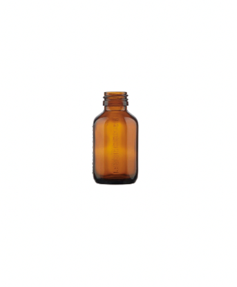 Picture of Bottle octagonal 100ml glass amber EXT. USE ROPP28