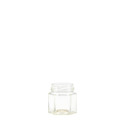 Image de Bocal hexagonal 45 ml verre TO43 transparent